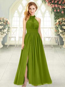 Fantastic Ankle Length Empire Sleeveless Olive Green Mother Of The Bride Dress Zipper