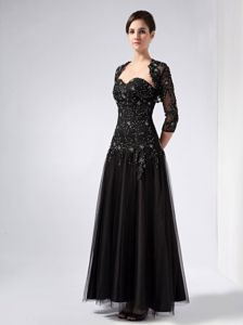Sweetheart Black Beading Lace Mother of the Bride Dress in Clifton Avon