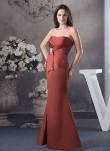 Pleated Mermaid with Applique Bowknot Mother Bride Dress in Del Rio