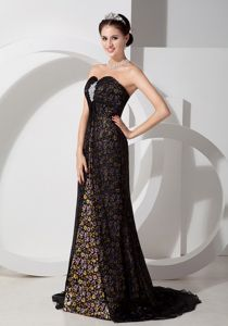 Black Sweetheart Print with Beading Mother Bride Dresses in Bristol