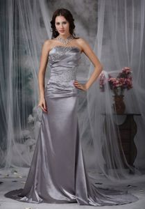 Column Court Grey Mother of Bride Dresses in Brentwood with Beading