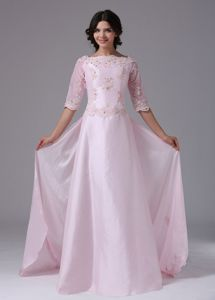 1/2 Sleeves and Appliques Accent Mother of The Bride Outfits in Rapid City