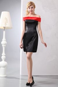 Column Mini-length Ruched Mother Dresses in Philip off The Shoulder Style