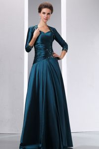 A-line Peacock Green Spaghetti Straps Mother Of Bride Dress in ND