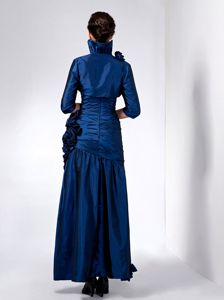 Sweetheart Ankle-length Navy Blue Flower Mother Of The Bride Dresses
