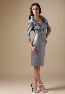 Grey Short Sweetheart Mother Of The Bride Dress Beaded in Maryland