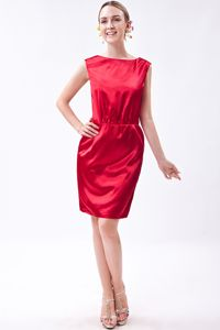 Bateau Wine Red Taffeta Mother Of The Bride Dress in West Chester