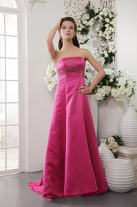 Brush Train Satin Beading Hot Pink Mother Dress in State College