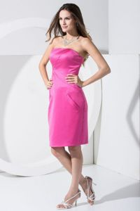 Discount Hot Pink Satin Mother Of The Bride Dresses in Cleveland
