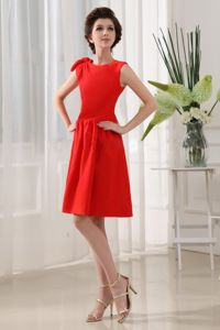 Scoop Red Taffeta Mother Dresses for Wedding Party in Huntington