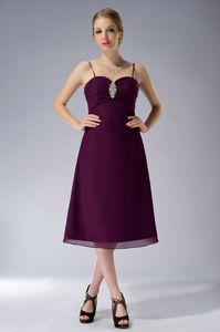 Burgundy Straps Beading Chiffon Lowell Mother Of The Bride Dress