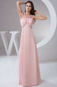 Baby Pink Straps Beading Ruched Mother Dresses in Prattville Alabama