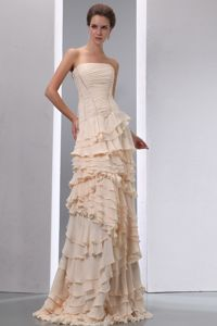 Irondale Alabama Strapless Ruched Ruffled Layers Mother Party Gowns