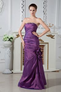 Flowers Strapless Ruche Mother of The Bride Dress in Barstow California